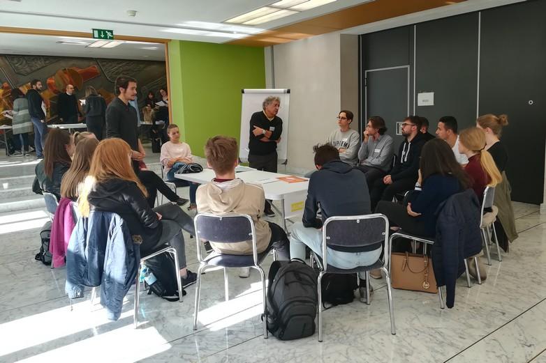 Des ateliers franco-allemands ont été organisés avant la consultation citoyenne - Crédits : Marie Guitton / Toute l'Europe