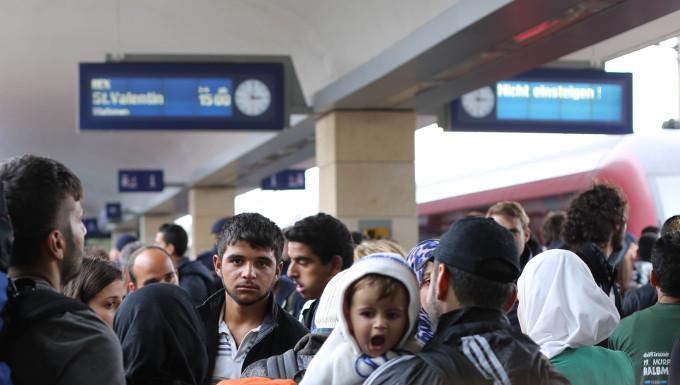 Réfugiés syriens à Vienne ©  Josh Zakary