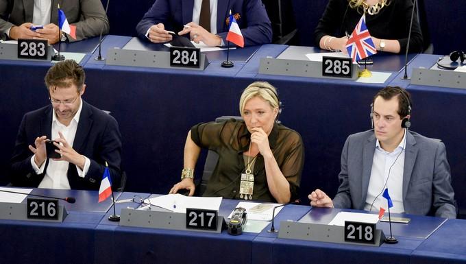Marine Le Pen au Parlement européen