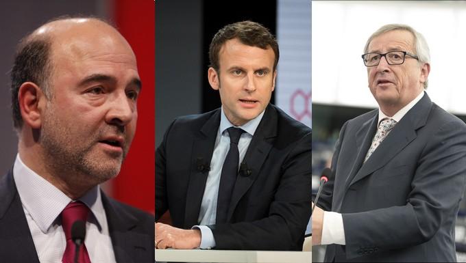 Moscovici-Macron-Juncker