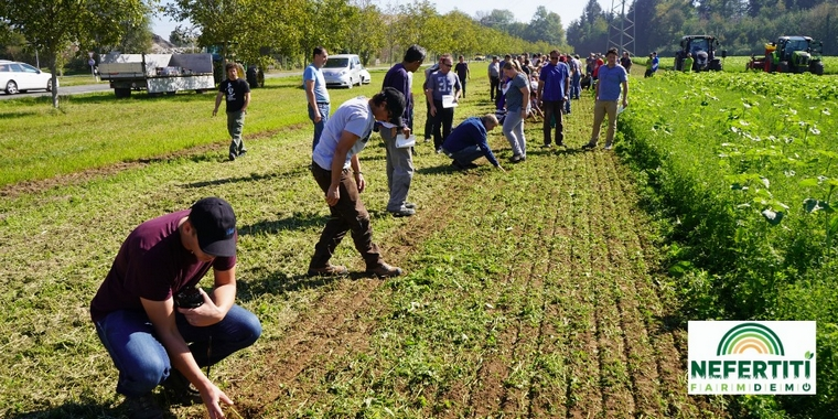 Démonstration dans une exploitation agricole - Crédits : @tombas60 / page Facebook NEFERTITI.EU