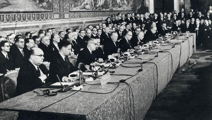 25 mars 1957 : des négociations à la signature des traités de Rome
