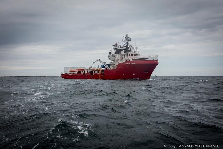 L'Ocean Viking en mer