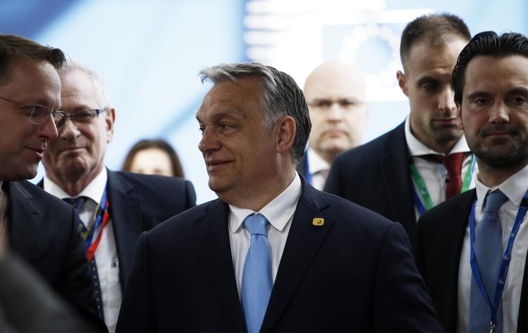 Viktor Orbán au Conseil européen le 10 avril 2019 à Bruxelles - Crédits : Conseil européen