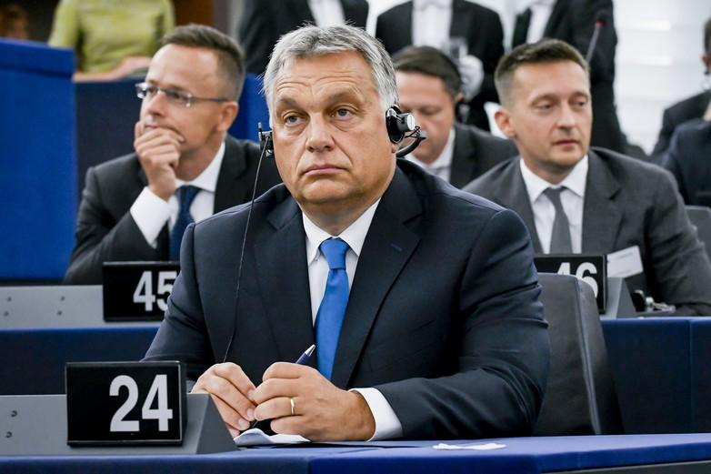 Viktor Orbán, lors de son intervention au Parlement européen, le 11 septembre 2018 - Crédits : Parlement européen