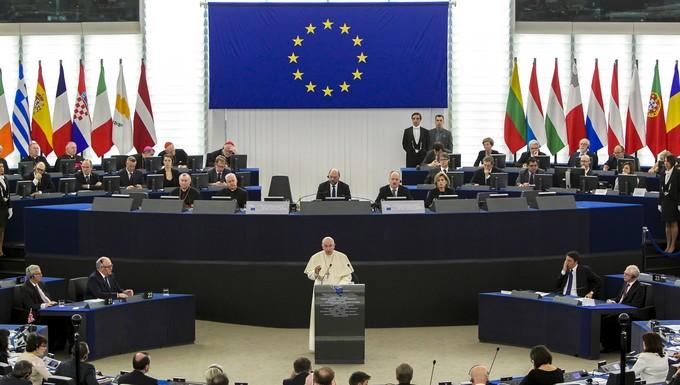 Le pape au Parlement européen