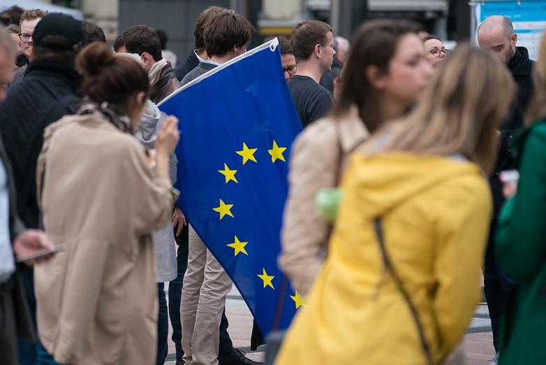 Le 26 mai 2019, devant le Parlement européen - Crédits : Parlement européen / Flicker CC BY 2.0