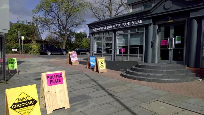 Bureau de vote à Edimbourg Ouest