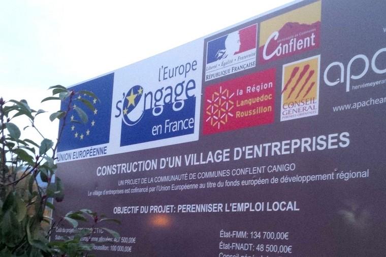 Construction d'un village d'entreprises dans la région Occitanie - Crédits : Europe direct Pyrénées
