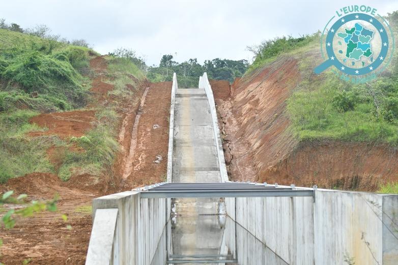 Jusqu'à 1 million de mètres-cubes d'eau pourront être retenus dans le nouveau barrage - Crédits : DR / Région Guadeloupe