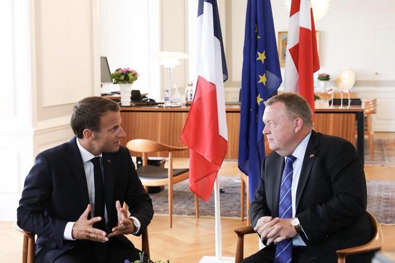 Emmanuel Macron et Lars Løkke Rasmussen