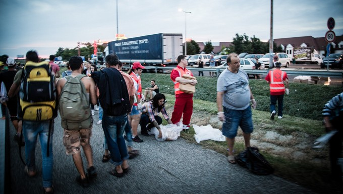 Réfugiés à Budapest