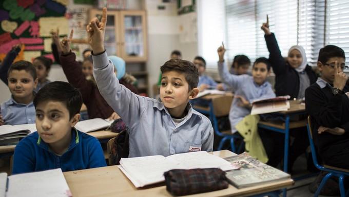 Ecoliers syriens réfugiés au Liban