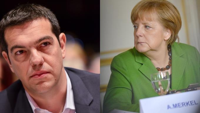 Alexis Tsipras - Angela Merkel