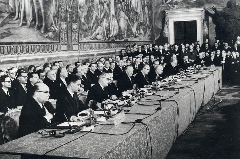 Signature des traités de Rome