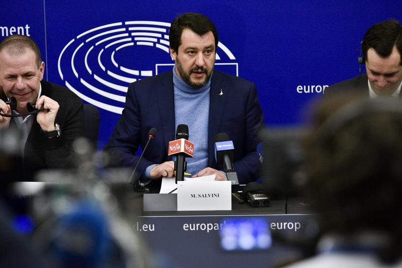 Matteo Salvini après sa victoire aux élections européennes du 26 mai 2019