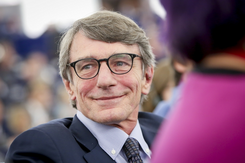 L'Italien David-Maria Sassoli élu président du Parlement européen