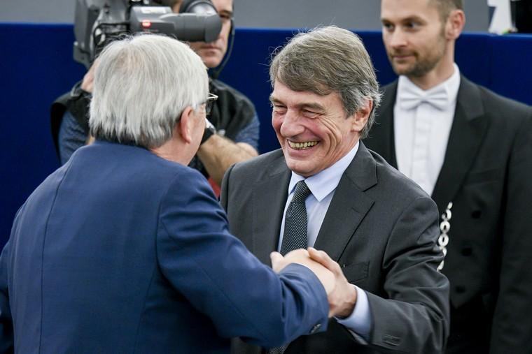 David Sassoli, Jean-Claude Juncker - Crédits Parlement européen