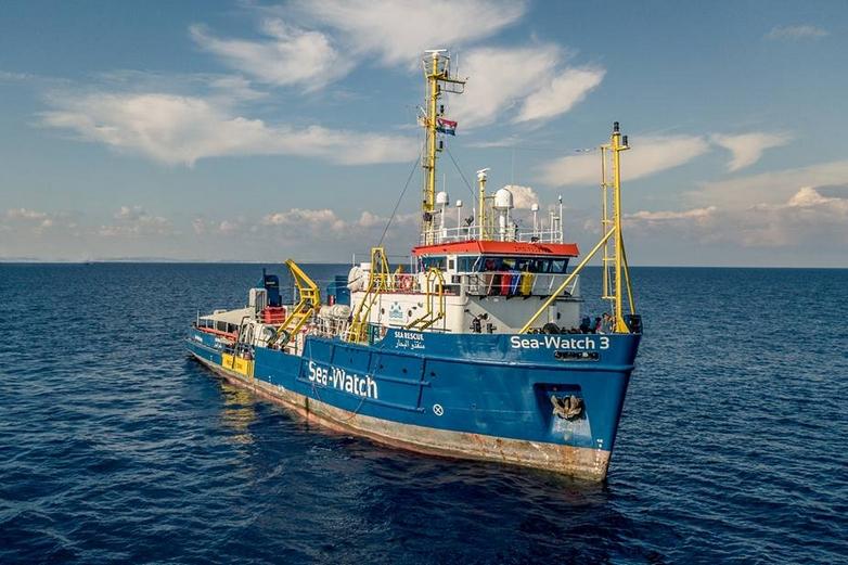 Le Sea-Watch 3 en mer