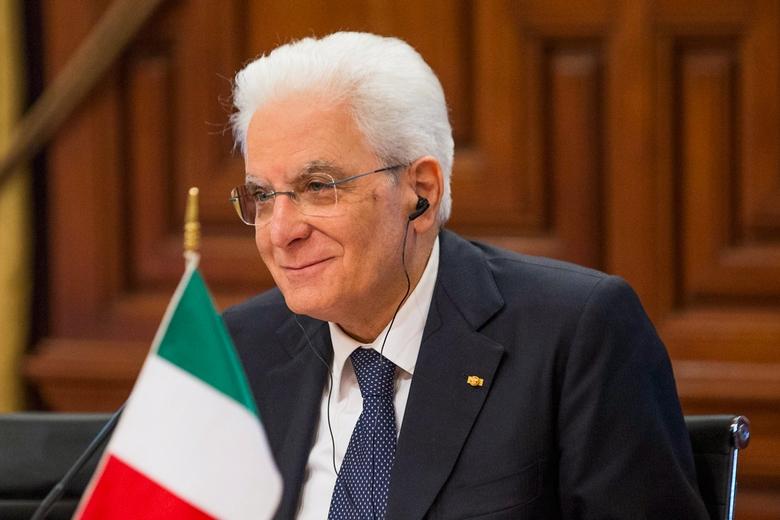 Le président italien, Sergio Mattarella