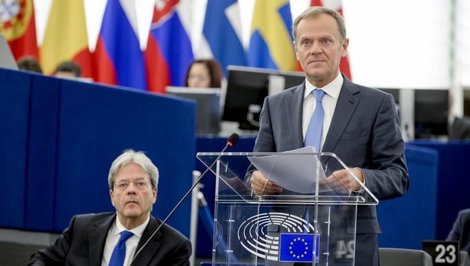 Intervention de Donald Tusk au PE - 15 mars 2017