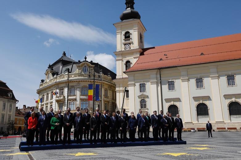 Les 27 chefs d'Etat et de gouvernement le 9 mai 2019 à Sibiu en Roumanie - Crédits : Dario Pignatelli / Conseil européen