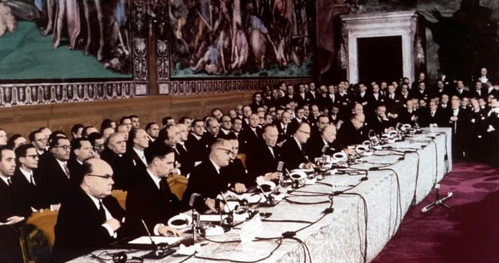 La signature du traité de Rome en 1957