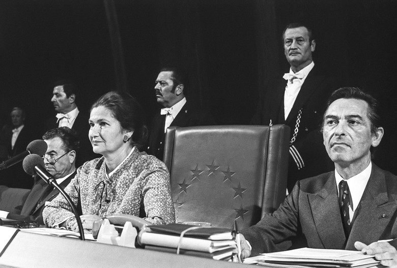 Simone Veil, la première présidente du Parlement européen
