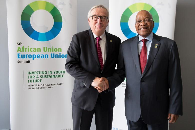 Jean-Claude Juncker et Jacob Zuma