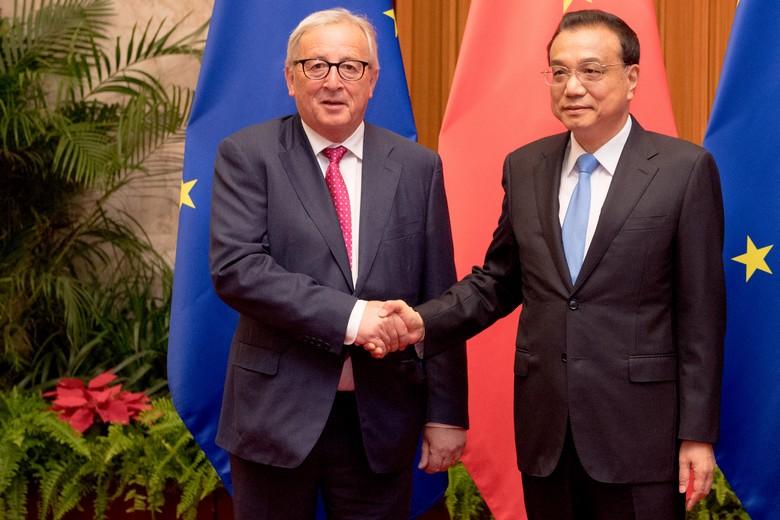 Jean-Claude Juncker, le président de la Commission européenne et Li Keqiang, le Premier ministre chinois.