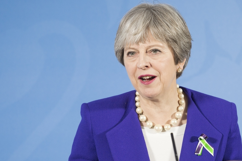 La Première ministre britannique, Theresa May