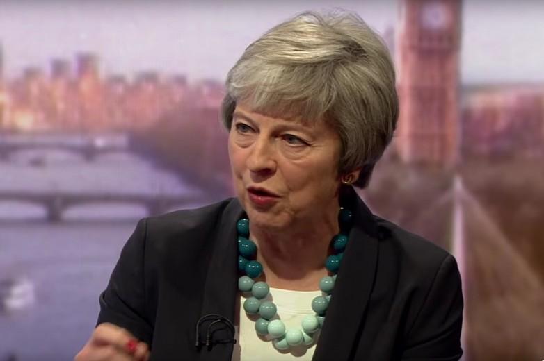 Theresa May s'est exprimée le 6 janvier sur la BBC - Crédits : Capture d'écran / BBC