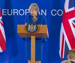Theresa May à Bruxelles le 11 avril après le Conseil européen - Crédits : Conseil européen