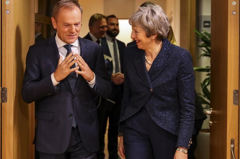 Donald Tusk, président du Conseil européen et Theresa May, le 24 novembre - Crédits : Number 10 / Flickr