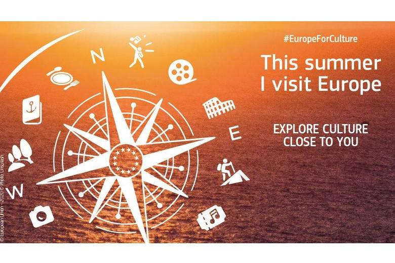 Lancé sur les réseaux sociaux au début de l'été, le visuel de la campagne de communication de la Commission européenne vise à promouvoir le tourisme culturel en Europe