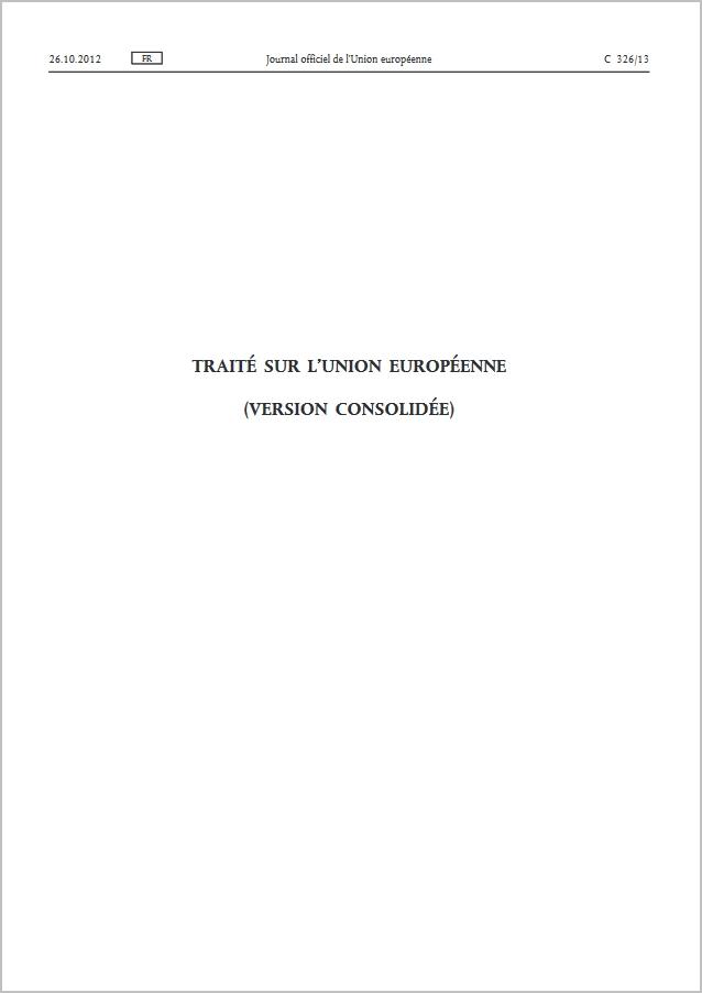 Traité sur l'Union européenne (TUE) - PDF