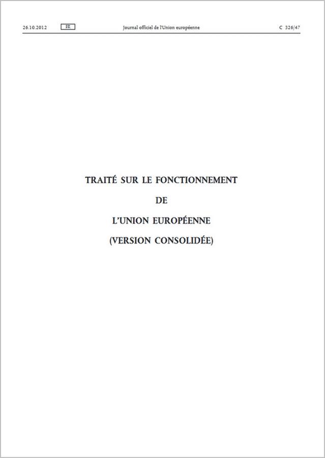 Traité sur le fonctionnement l'Union européenne (TFUE) - PDF