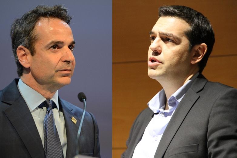 Kyriakos Mitsotakis et Alexis Tsipras