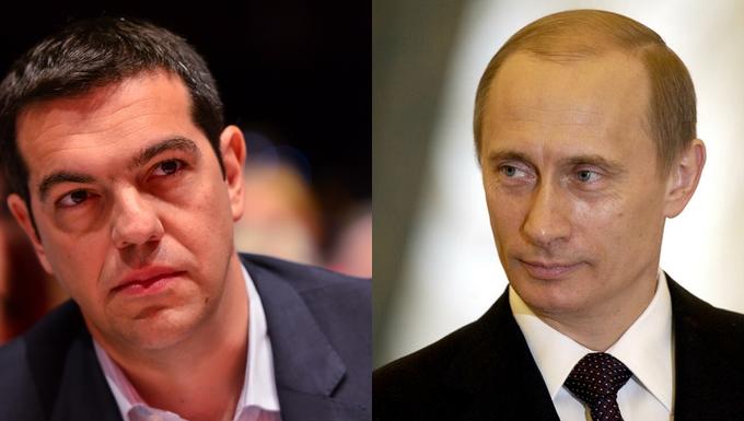 Alexis Tsipras et Vladimir Poutine