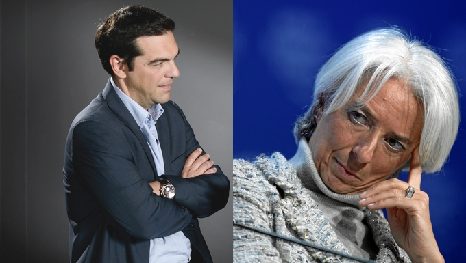 Alexis Tsipras et Christine Lagarde