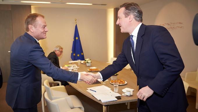 Donald Tusk et David Cameron lors du Conseil européen © Conseil européen
