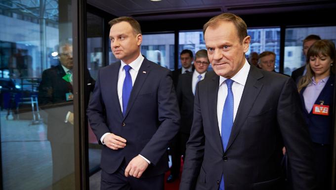 President TUSK meets Andrzej DUDA, President of Poland