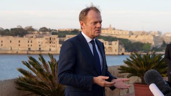 Donald Tusk, président du Conseil européen, à La Valette (Malte) le 2 février 2017