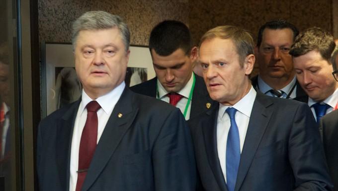 Petro Porochenko et Donald Tusk