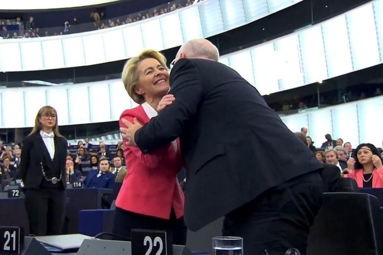 Ursula von der Leyen, le 27 novembre 2019 après le vote d'investiture au Parlement européen - Crédits : Capture d'écran / Parlement européen