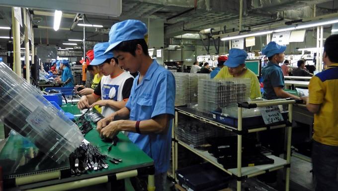 Une usine à Zhuhai en Chine