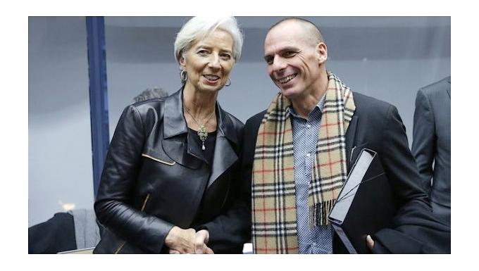 Christine Lagarde et Yanis Varoufakis