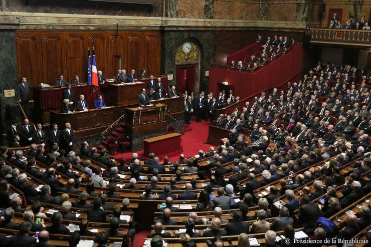 Parlement français réuni en Congrès à Versailles - 16 nov. 2015