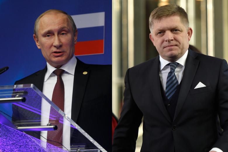 Vladimir Poutine et Robert Fico