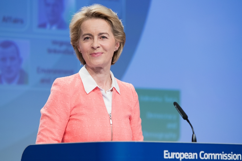 Ursula von der Leyen lors de la nomination du collège de commissaires le 10 septembre 2019 - Crédits : Mauro Bottaro / Commission européenne